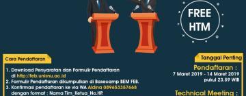 Form dan Petunjuk Teknis Debat Ekonomi FEB UNISNU Jepara 2019