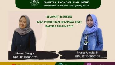 Dua Mahasiswa Ekonomi Islam Raih Beasiswa Riset Zakat